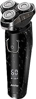 Afeitadora Eléctrica Rotativa Uso en Húmedo y Seco para Hombre, Máquina de Afeitar Eléctrica USB Recargable con Display Digital & Bloqueo de Viaje Inteligente