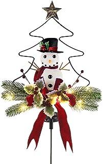 Yorten Solar LED Hardware Chritmas Tree Snowman Inserted Flower Lamp Garden Lawn Romantic Decoraitive Light