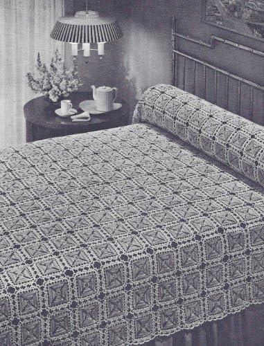 Vintage Crochet PATTERN to make - MOTIF excellence Maltese Cross Desi security Block