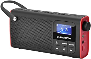 Avantree SP850 Rechargeable Portable FM Radio with Bluetooth Speaker and SD Card MP3..