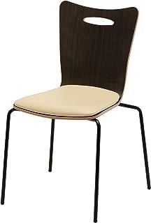届け先法人限定 オフィスコム ミーティングチェア 会議用チェア スタッキングチェア プライウッドチェア チェア 椅子 アメーボ ダークブラウン×アイボリー AMEBO-MC1-DBIV