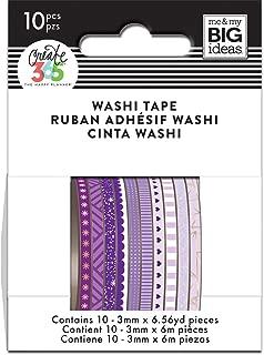 me & my BIG ideas WTSS-08 The The Happy Planner Mini Washi Tape, Purple Hues