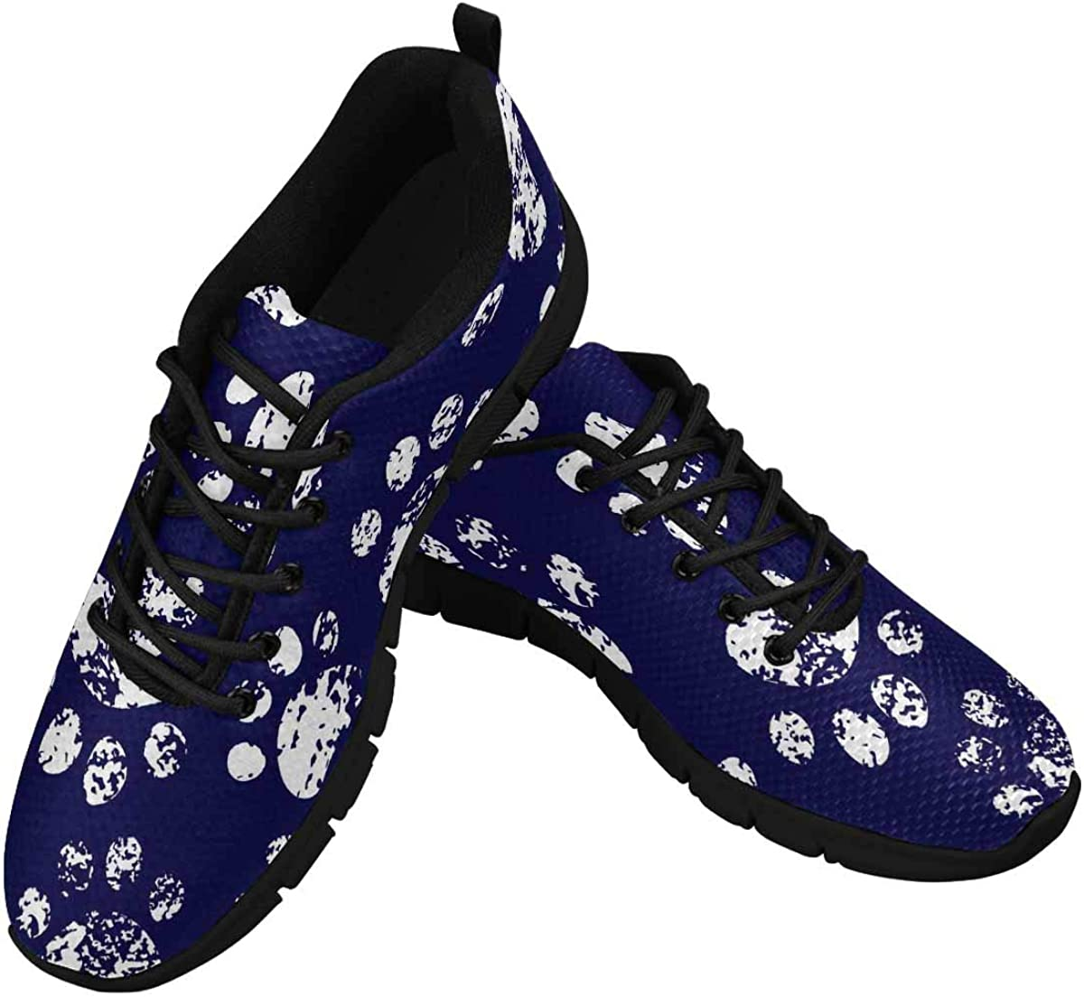 InterestPrint Cat Dog Paw Prints 70% OFF Max 88% OFF Outlet Walkin Women's Pattern Athletic