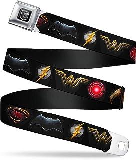 Buckle Down Men's Seatbelt Belt Justice League XL