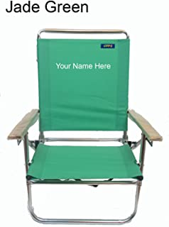 Personalized Imprinted Mid Height 3 Position Beach Chair by Copa - Jade Green