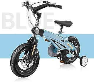 WYFDM Bicicleta Plegable, Bicicleta para niños 180 ° Manillar ...
