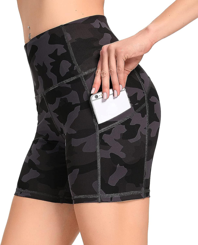 Ronanemon Biker Shorts High Waist Yoga Free shipping for Tummy Co Selling Women