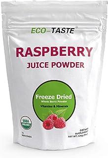 Organic Red Raspberry Juice Powder - Freeze Dried 8 Ounce, Non GMO, Gluten Free, Vegan,Rich in Vitamins, Essential Amino A...