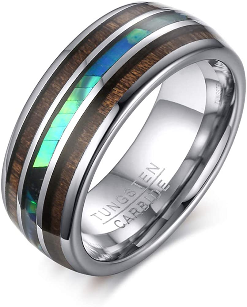 Mens 8mm Tungstcen Carbide Ring Wedding Band Engagement Challenge the lowest price Max 44% OFF of Japan Vintage