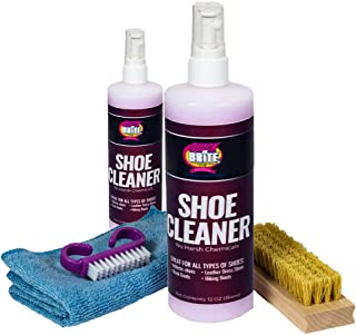 Shoe Cleaning Kit,12 Oz. Plus 4 oz Travel size, 100% Guaranteed Cleaner Solution, Microfiber Cloth, and Brush