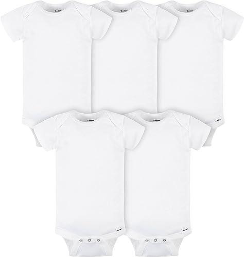 Gerber unisex-baby 5-pack Solid Onesies Bodysuits