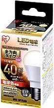 アイリスオーヤマ LED電球 口金直径17mm 40W形相当 電球色 全方向タイプ LDA4L-G-E17/W-4T5