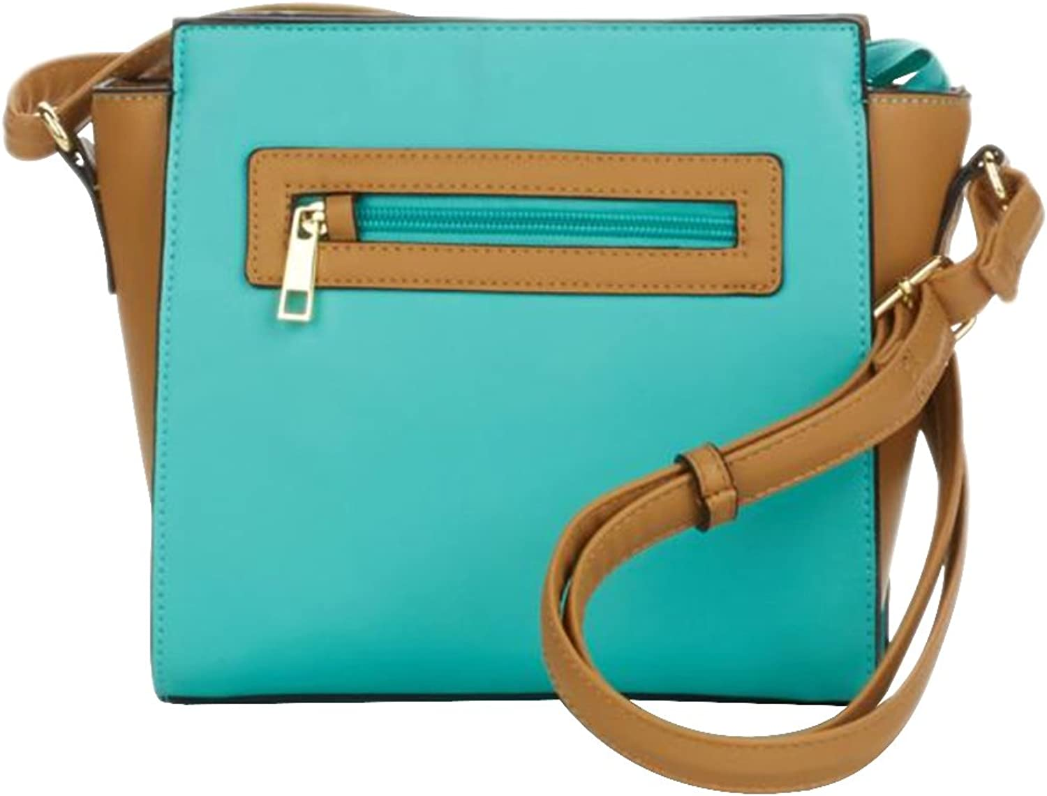 TravelSmith RFID Crossbody Bag with AntiTheft Pacsafe Features  Turquoise   Camel