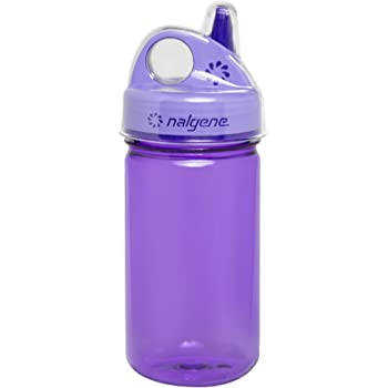Celery Street Nalgene Grip-N-Gulp Childrens BPA Free Dishwasher Safe Tritan Water 12 Ounce Bottles 7.5 Inches Tall by 3.5 Inches Wide Set of Four Multi-Color Bottles