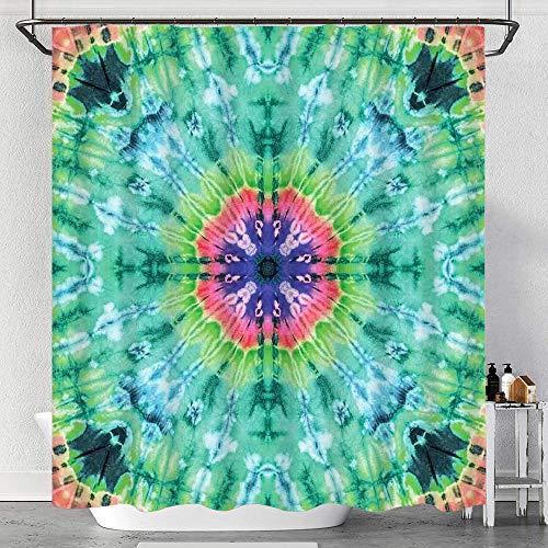 Codruy Duschvorhang Wasserdicht Distressed Hintergrund mit Plissee Gradient Brushed Marble Styled Effekt Bild mit Haken, waschbare Badvorhänge