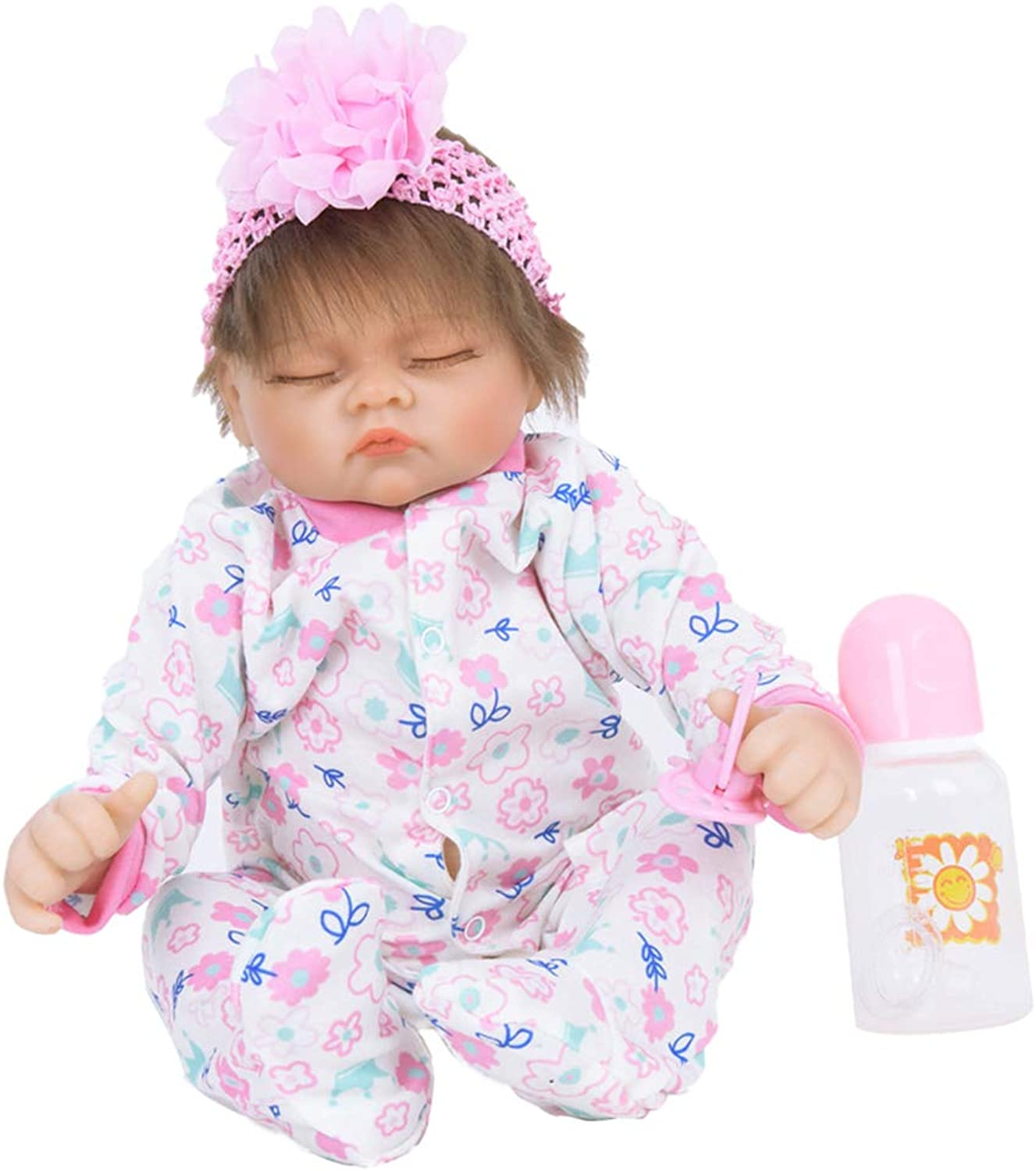 Baoblaze Adorable 22inch Realistic Reborn Doll Native American Newborn Infant Baby Doll Mold with Rompers Outfits and Nursing Accessories