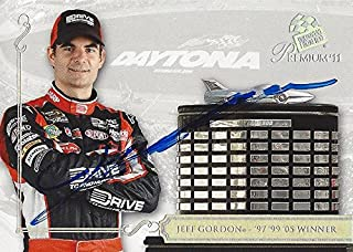 AUTOGRAPHED Jeff Gordon 2011 Press Pass Premium Racing DAYTONA 500 CLUB (1997, 1999, 2005 Winner) Hendrick Motorsports (#24 Drive to End Hunger Team) Signed NASCAR Collectible Trading Card with COA