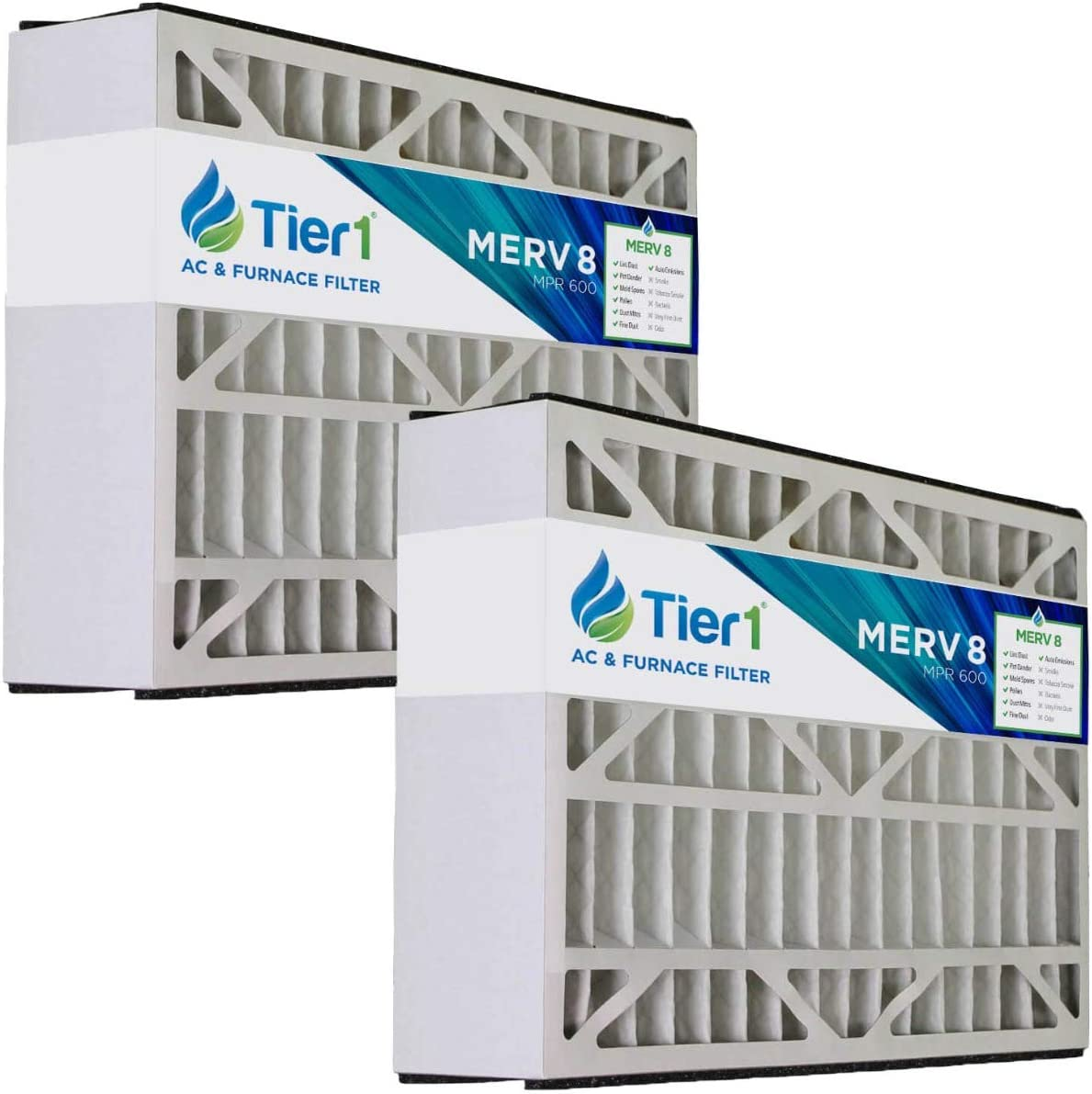 Tier1 16x25x5 Merv Now free shipping 8 Replacement Ai for Carrier Tucson Mall M1-1056 MF1625
