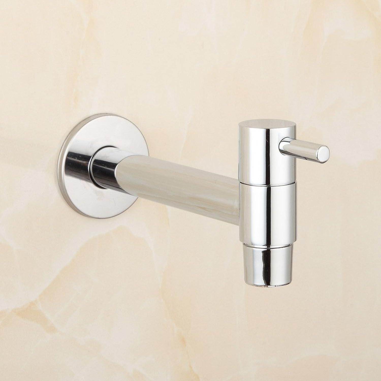 DFBGFMN Extra Wand Lange Polierchrom Wsche Bad Nassraum Küche Waschbecken Wasserhahn Wasserhahn Zapfen Bibcocks, wei