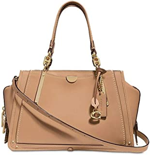 Coach Dreamer Beechwood/Light Gold Leather Satchel 30947 $495