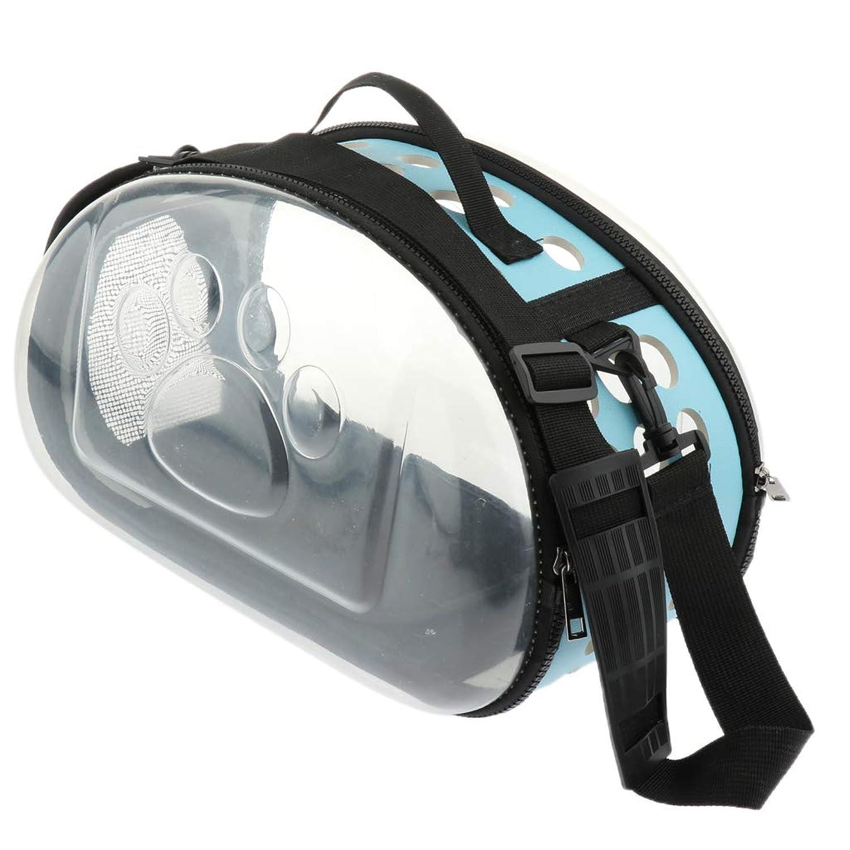 SM SunniMix ペット用 キャリーバッグ ペットケージバッグ アウトドア トラベル 旅行 ハイキング ピクニック 全3色2サイズ - ブルーL