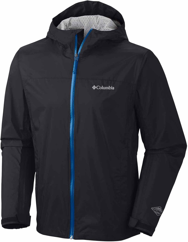 Columbia Sportswear Men's Evapouration Jacket, Black/Windswept, Medium
