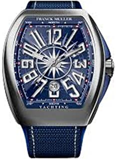 Vanguard Mens Automatic Date Blue Face Blue Rubber Strap Watch V 45 SC DT YACHTING AC.BL