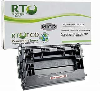 Renewable Toner Compatible MICR Toner Cartridge Replacement for HP 37A CF237A Laserjet Enterprise M607 M608 M609 M631 M632 M633