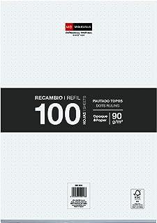Miquelrius 9018 - Reservebladen Losse Vellen - 100 Losse Punten, A4, Papier 90 G, Zonder Boringen