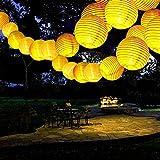 ANKOUJA Solar Lichterkette Aussen Solarlampen Gartenleuchte 30 LED Warmweiß Lampion für Balkon Solarleuchte Garten Wasserdichte Laterne