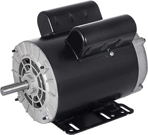 lowest Mophorn 3 HP Electric Motor lowest 1 high quality Phase AC Motor 3450rpm 60Hz 56 Frame SPL Rot-CCW Air Compressor Motor, 115/230V online