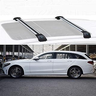 LLDS Aleación de Aluminio Barras de Techo de la Barra Cruzada por Carretera Barras portadoras Compatible con C Class Estate 2015-20 (Size : For Mercedes Benz C Class 2016)