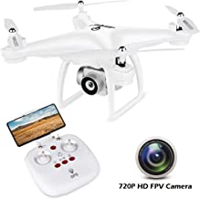 JJRC GPS Drone RC FPV Drones with HD Camera for Adults Beginners H68G Auto Return Home,Follow Me, Altitude Hold, 2 Batteries Long time Flying - White