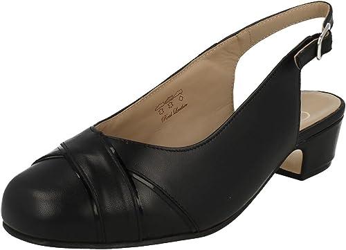 Equity Chaussures Talon Talon Talon Bas Pour Femme Cressy (- Noir - Cuir Noir, 36.5 EU