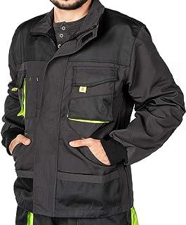 Chaqueta de Trabajo para Hombre, Bolsillos Multiusos, Chaquetas Seguridad S - 3XL, Abrigo Hombre, Work Jacket for Professionals, Ropa de Trabajo Hombre Calidad