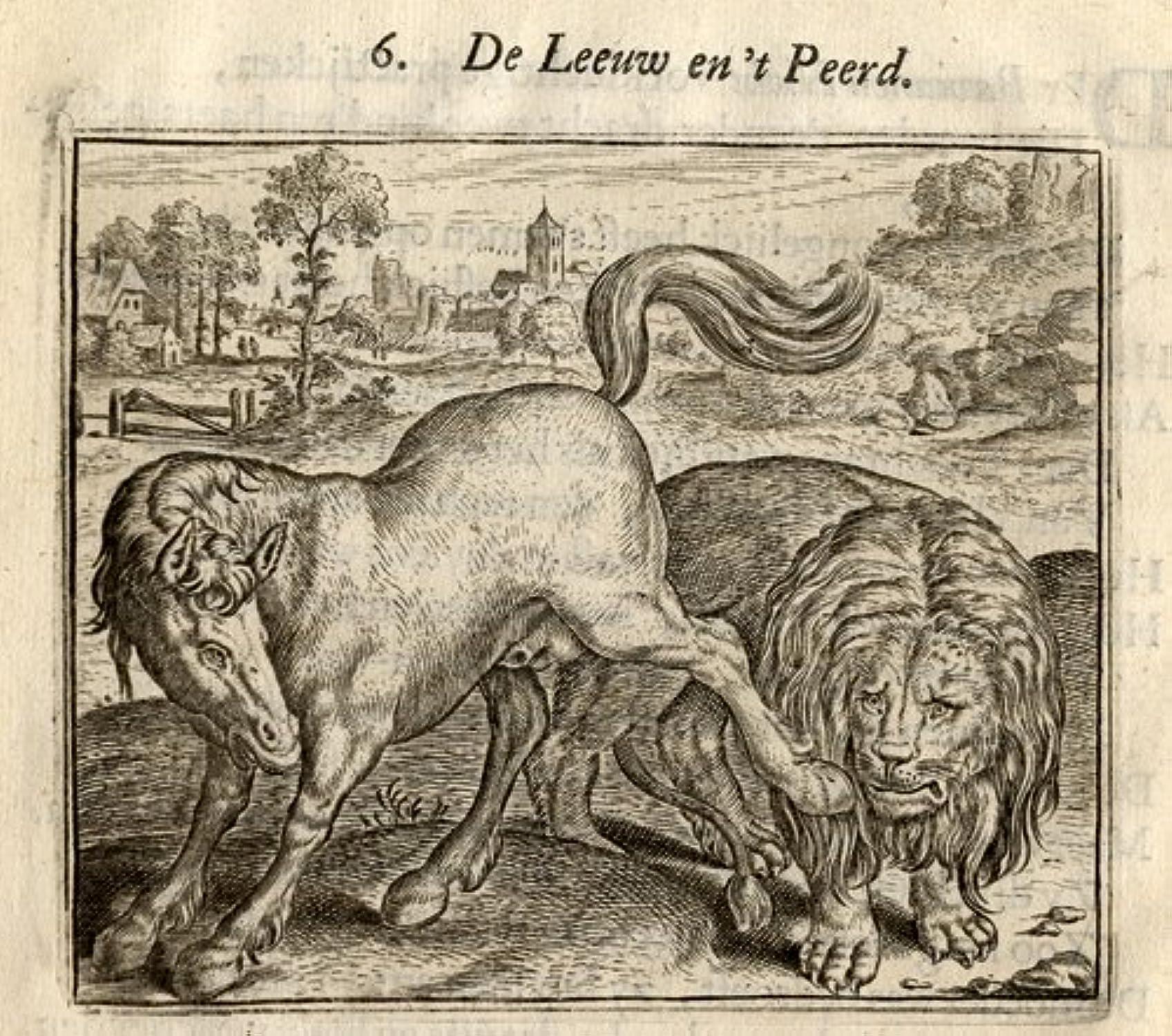 Venta al por mayor barato y de alta calidad. Emblema Emblema Emblema antiguo ThePrintsCollector cruzerlite-león-mactack-Vondel-Geraerts-1720  diseños exclusivos