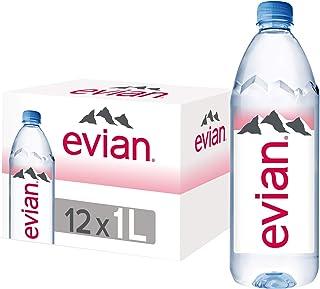 Evian Natural Mineral Water, 12 x 1L