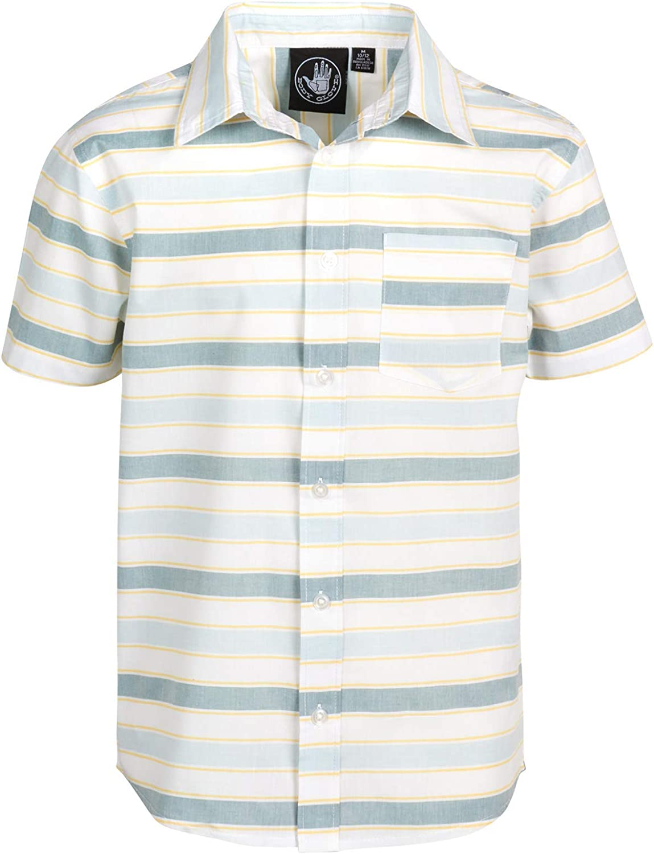 Body Glove Boys Short Sleeve Button Down Summer Beach Shirt