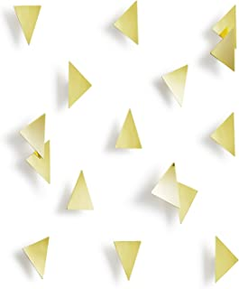 Umbra Confetti Triangles Home Wall Décor – 16 Pack Easy To Install, Self-Adhesive Polished Brass Home Wall Decorations – Modern Wall Art Décor – Great For Living Room, Bedroom - Affects Your Emotions