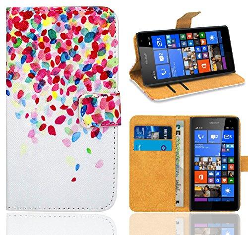 FoneExpert® Microsoft Lumia 535 Handy Tasche, Wallet Hülle Flip Cover Hüllen Etui Ledertasche Lederhülle Premium Schutzhülle für Microsoft Lumia 535 (Pattern 1)
