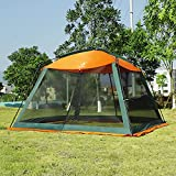 DALTACK Screen House for Outdoors 10Ft x 10Ft Mesh Screen Room Canopy Sun Shelter UPF 50+ Sun Shelter with Carry Bag