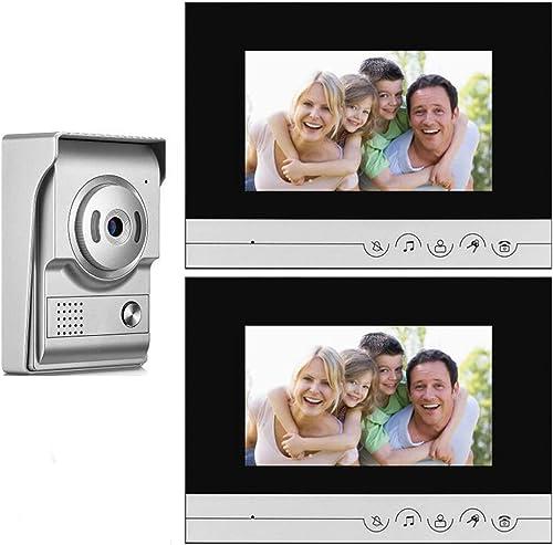 tiempo libre TQ 7-Zoll-Video-Türklingel, verdrahtete Video-Gegensprechanlage, Zutrittskontrollsystem, 2 2 2 Monitore, Entriegelung für den Innenbereich  tienda hace compras y ventas