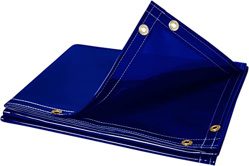 discount Steiner outlet sale 325-6X8 Arcview 14 Mil Flame 2021 Retardant Tinted Transparent Vinyl Welding Curtain, Blue, 6' x 8' online