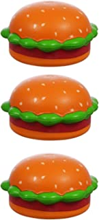 3 Pack of Funny Stress Balls for Adults and Kids Shaped Like Cheeseburgers and Non Toxic