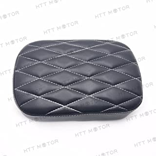 HTTMT MT500-012D- Pillion Pad Suction Seat 6 Cup Passenger Cushion Compatible with Harley Dyna Sportster 883