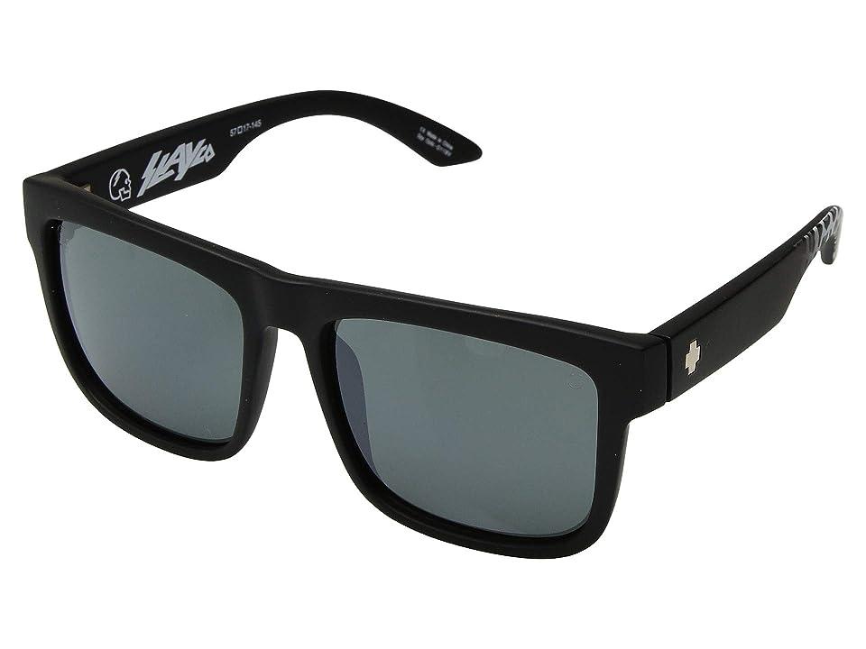 Spy Optic Discord (Matte Black Leopard Fade/Happy Gray Green/Silver Flash) Sport Sunglasses