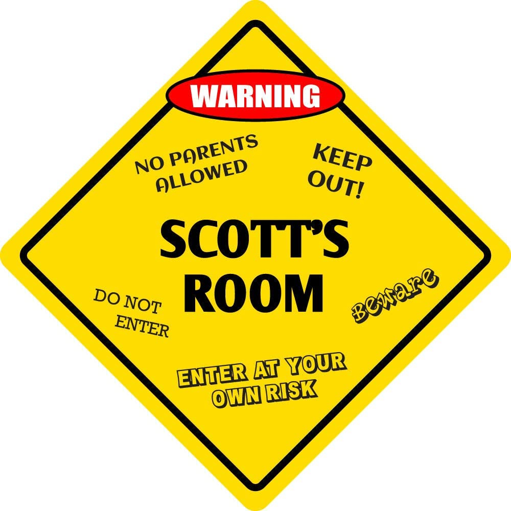 Sign Wall Signboards Poster Decor - Kids Kansas City Mall Aluminum R NEW before selling Scott's Room