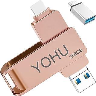 YOHU 256GB Chiavetta USB per Phone Memoria USB Esterna Photo Stick Flash Drive PenDrive per Dispositivi con Android/USB C/...