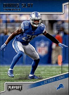 2018 Playoff Football #67 Darius Slay Detroit Lions Official NFL Trading Card made by Panini