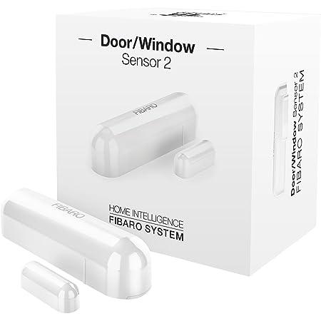 Fibaro FGDW-002-1 FGDW0021 Door/Window v2 with Temperature Sensor, Z-Wave Plus, FGWD-002-1, White